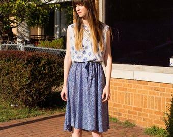 60s Printed Midi Dress