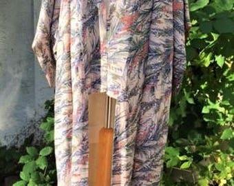 Long Silk  Vintage Kimono