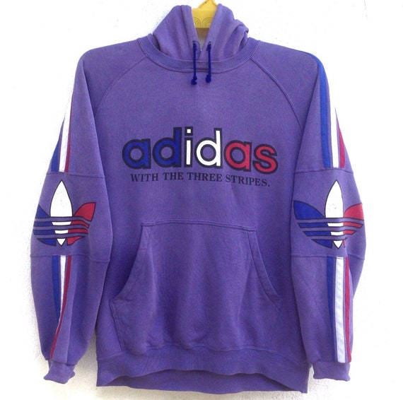 Spell Large Big Hoodie Vintage France Adidas Size Logo 90s Out Purple Colour Sweatshirt Sweater IwBOYBx1Sq