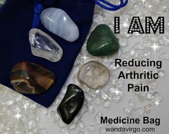 Reduce Pain Crystal Medicine Bag I AM Reducing Pain / Arthritis / Inflammation