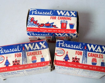 Three boxes Vintage Paraseal paraffin wax candlemaking canning crafts