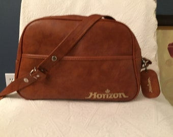 Vintage HORIZON Airlines Travel Bag With Name Tag GUC