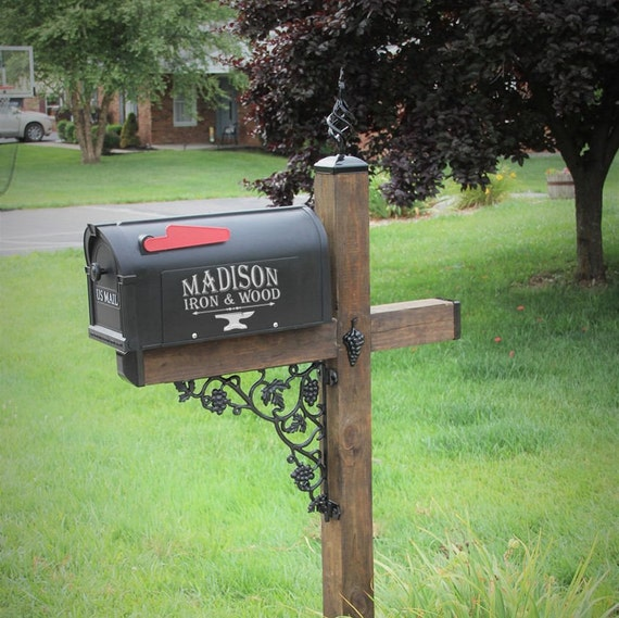 wrought iron mailbox post grape vine wrought iron mailbox post dress kit for standard 1666