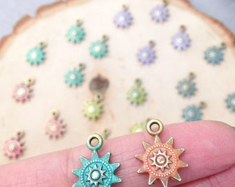 Sunburst colorful rustic charms - rainbow collection