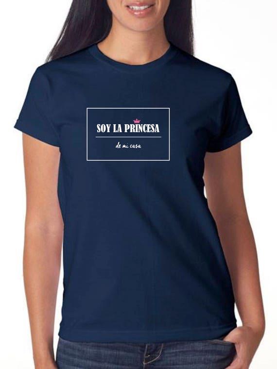 Girl navy t-shirt or body SOY LA Princesa de mi casa