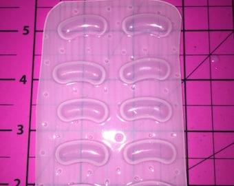 25% off 10 kawaii Jelly Bean candy - Flexible Plastic Resin Mold