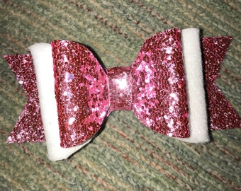 Pink Felt Bow