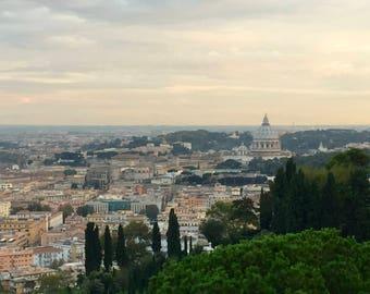 Roman Overlook - Rome - Italy - St. Peter's Basilica - Travel Photography - Home Decor - Wall Art