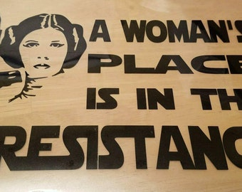 A Woman's Place is in the Resistance Decal