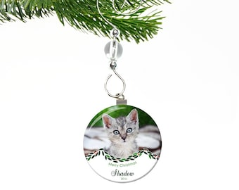 Cat Christmas Ornament- Personalized Cat Ornament- Pet Memorial Ornament- Custom Ornament- Pet Ornament- Pet Christmas Ornament Cat Memorial