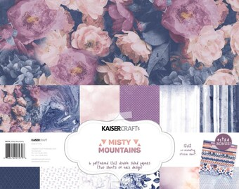 Kaisercraft, 12 x 12 Paper Pack, Misty Mountains, Scrapbooking, Card Making,  Mixed Media, Mini Album,