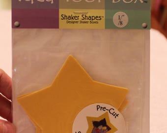 Free Shipping!!  Idea Tool Box - Lemon Drop Stars - Shaker Shapes - New in Pkg - Scrapbooking Embellishments - Stickers - SNSJ3