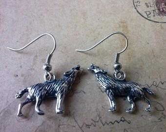 Fox earrings ~ silver ~