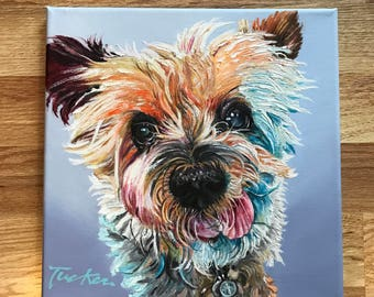 Custom pet painting, custom dog painting, custom pet portrait, pet gift, animal painting, custom oil painting, dog portrait