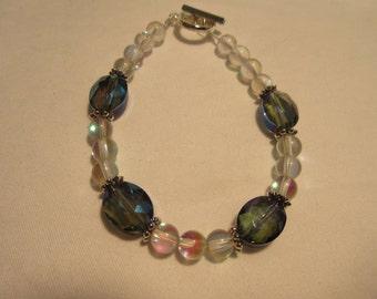 Gleamy Rainbow Moonstone Beaded Bracelet