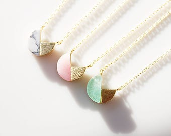 Opal Stone Charm Necklace Unique Opal Stone Necklace Bridesmaid Gift Bridesmaid Necklace Birthday Gift