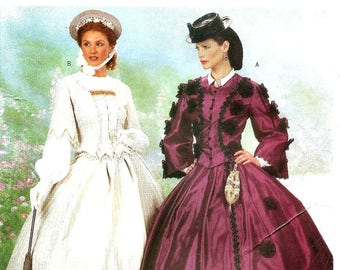 Historical Civil War Dress Costume 1860's - Sizes: 12 -14 -16 Butterick 6694 Making History Sewing Pattern - UNCUT OOP