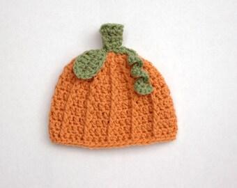 Pumpkin Hat, Crochet Pumpkin Hat, Pumpkin Beanie, Halloween Hat, Halloween Beanie, Pumpkin Hat Girl, Pumpkin Hat Boy, Baby Pumpkin Hat