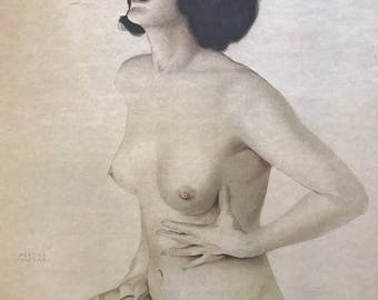 "Alberto Vargas  "" Yearning"" pin-up nude Litho c. 1978 lmt ed Tale of Two Vities , Inc"