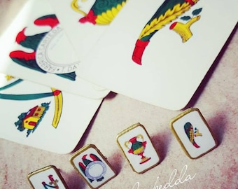 Sicilian card Earrings