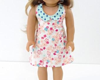 18 Inch Doll Dress, AG Doll Dress, 18 Inch Doll Retro Halter Dress, AG Doll Retro Halter Dress