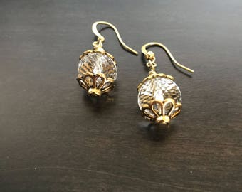 Gold accent earrings