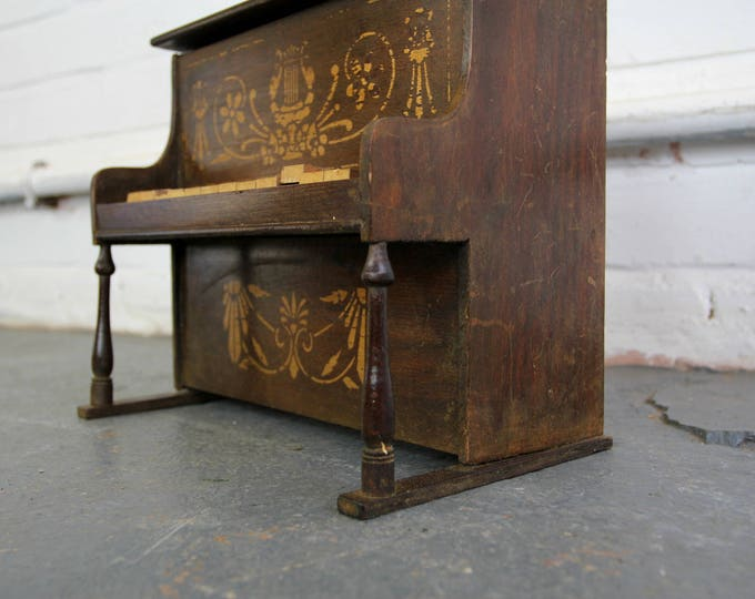 Early 20th Century Wooden Toy Piano Circa 1900