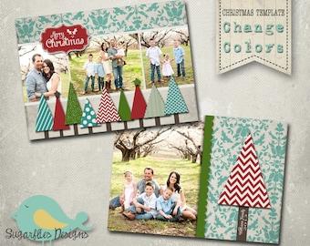 Christmas Card PHOTOSHOP TEMPLATE - Family Christmas Card 90