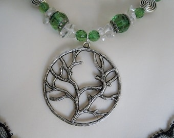 Tree Of Life Necklace, wiccan jewelry pagan jewelry wicca jewelry celtic jewelry witch witchcraft goddess metaphysical druid wiccan necklace