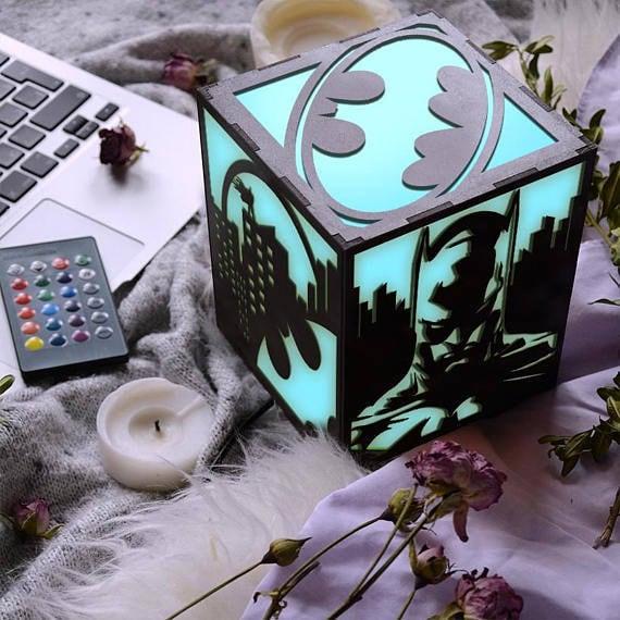 Batman Theme Lamp Birthday Gift For Teens Long Time Friend