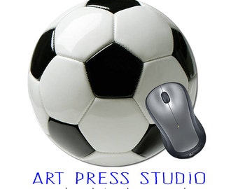 Soccer Ball Mouse Pad, Sports Mouse pad, Soccer Mousepad, Personalized Mouse Pad