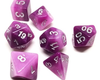 DND Dice Set - Purple layered dice - dnd gift ideas d&d dice d20 RPG dice roleplaying Role Playing Games polyhedral by Dice Envy