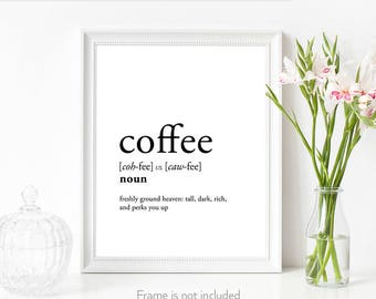 Coffee gifts for women / Coffee gifts her / Coffee lover her / Coffee sign art / Coffee gifts print /