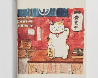 Maneki Neko notebook / sketchbook