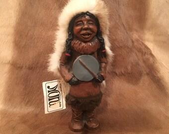 Vintage Eskimo Doll by Kiana