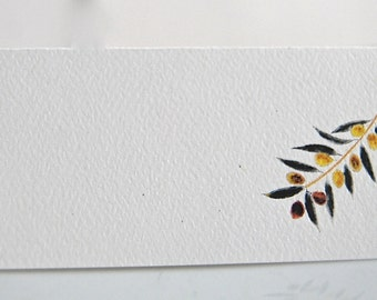 Olive Branch, Tented Name Cards, Seating Cards, Personalized Cards, Blank Party Cards, Tented Cards, Table Decor, Olive Party Theme,Vineyard