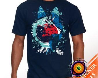 Princess of Wolves - Mononoke T-Shirt Studio Ghibli Anime Wolf Movie Shirt