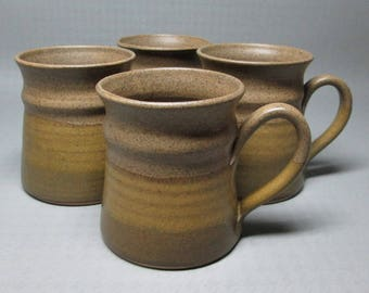 Barbara Davidson 4 mugs , hand thrown , Larbert , Scotland