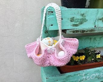 Easter Egg Basket; Easter Basket Handmade Crochet
