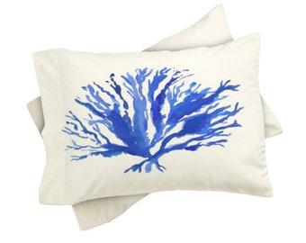 Sea Coral Pillow Shams - Set of 2