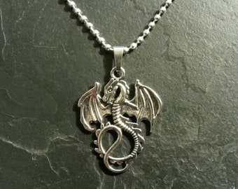 Dragon Fantasy Monster Creature Necklace Pendant Charm Collectible Gift Present