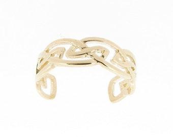 9ct Yellow Gold Celtic Design Toe Ring