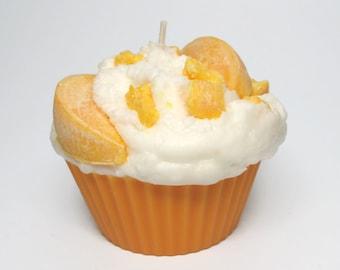 Jumbo Peaches and Cream Cupcake Candle