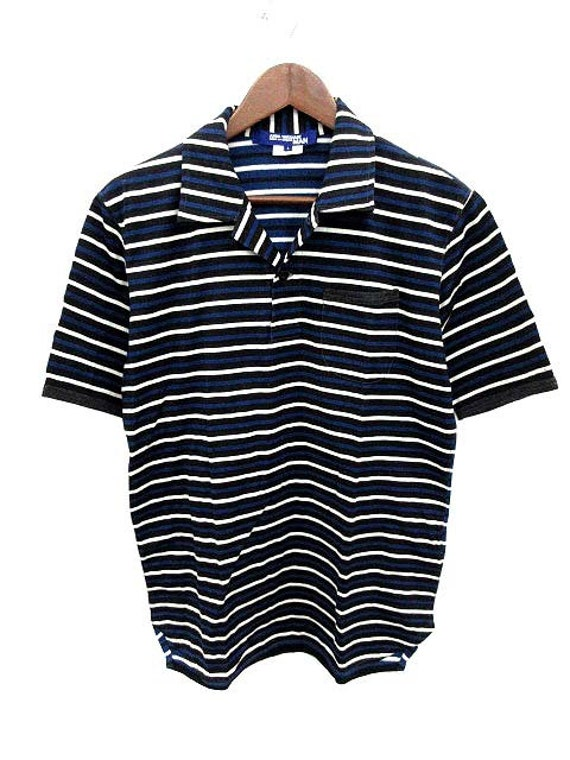Navy Stripes Comme Large Junya Shirt Watanabe Des Garcons BqSWXTR