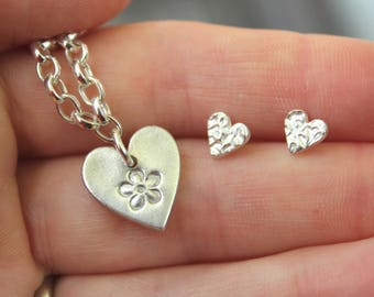 Tiny heart studs, tiny ear studs, very tiny heart studs, tiny earrings, tiny stud earrings, very tiny earrings, tiny silver hearts