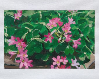 Shamrock in Bloom - Original Acrylic on Canvas