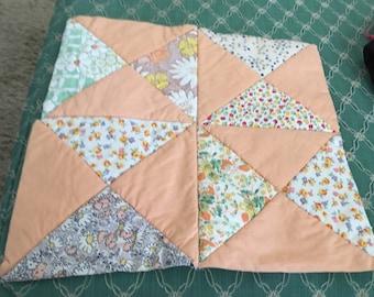 2 Vintage Quilt Squares