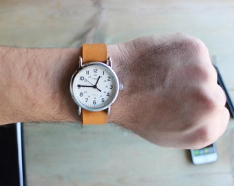 Suntan Brown Timex weekender watch strap