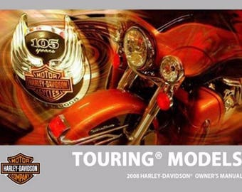 2008 Harley Touring Factory Service Shop & Electrical Diagnostic CD Manual