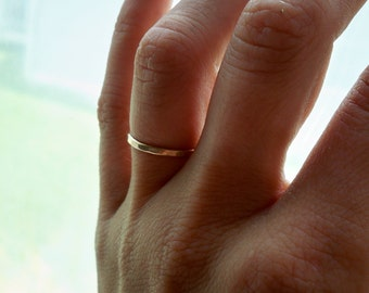 Faceted Hammered 14k Gold Fill Thick Stacking Ring - custom made to order